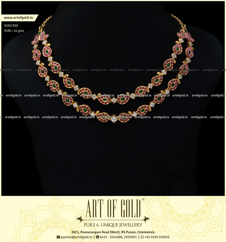 Bringing you a Double Row Chettinad Mango Necklace in just 44 grams. Check out similar Chettinad Mango Necklaces in our website.
