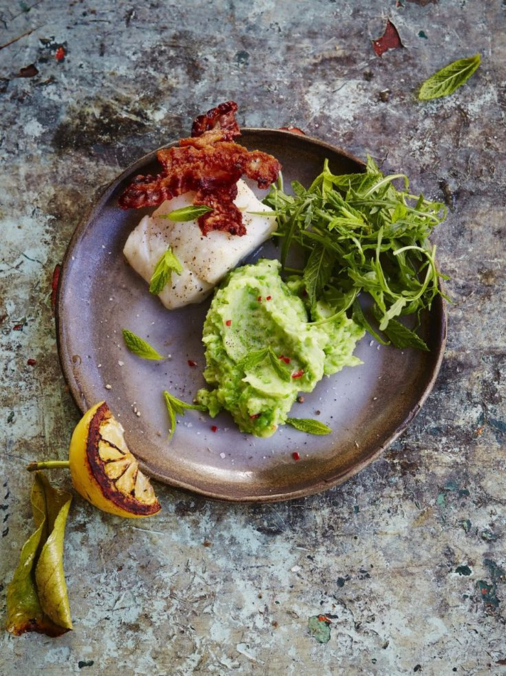 Best 25 jamie oliver dinner party ideas on pinterest dinner grilled cod with pancetta and pea mash forumfinder Image collections