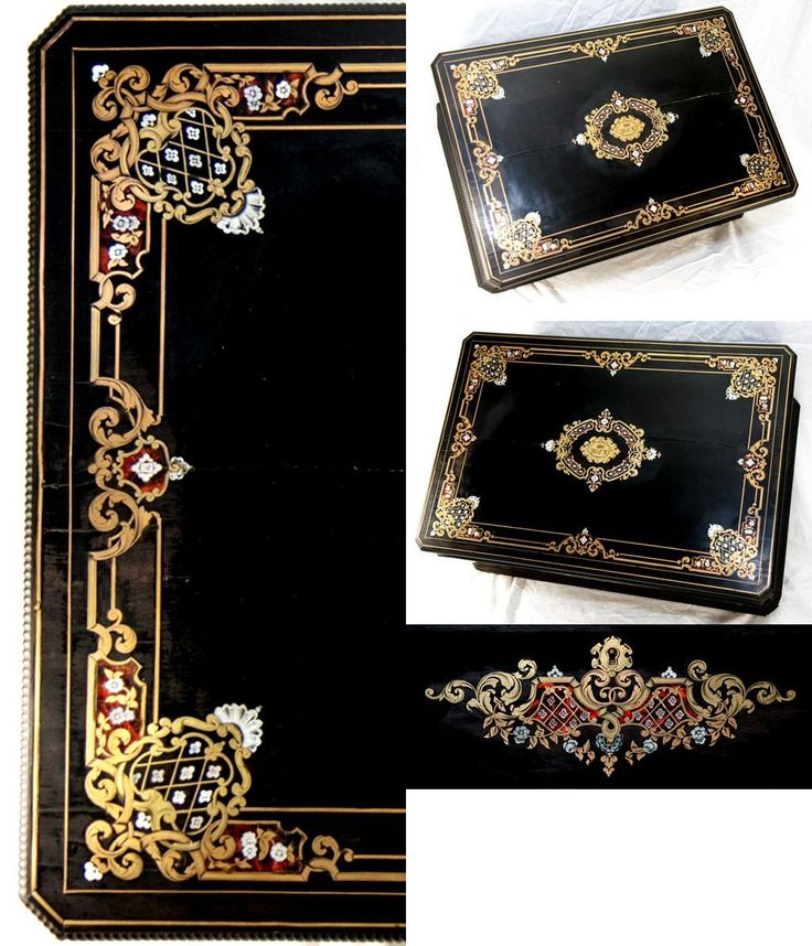 "HUGE c.1830 Antique French Boulle Chest, Box, 24"" x 17"" Cashmere or from antiques-uncommon-treasure on Ruby Lane"