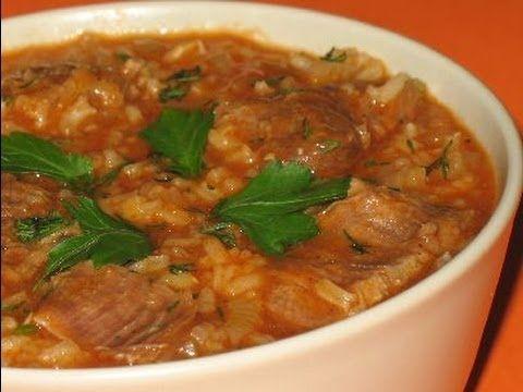 ▶ KHARCHO - Georgian Lamb Soup Recipe - Суп Харчо / ხარჩო - YouTube