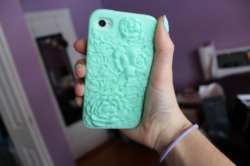 mint iphone case. ♡