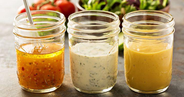 Aposte nos molhos de salada fresquinhos feitos em casa.  Fotografia: iStock.