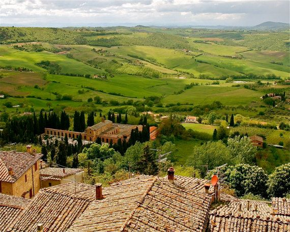 Tuscany Landscape Print  Italy Photography  Rustic by VitaNostra, $30.00