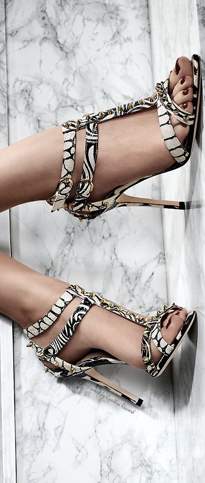 Brian Atwood Ad Campaign ~ Spring Black+White Sandal Heels 2015
