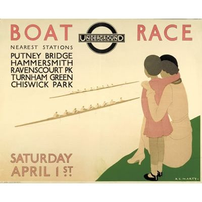 Poster: Boat Race, by Andre Edouard Marty, 1933
