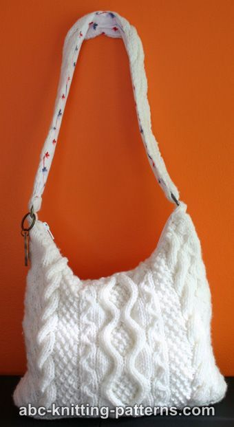 ABC Knitting Patterns - Knit Bag with Cables