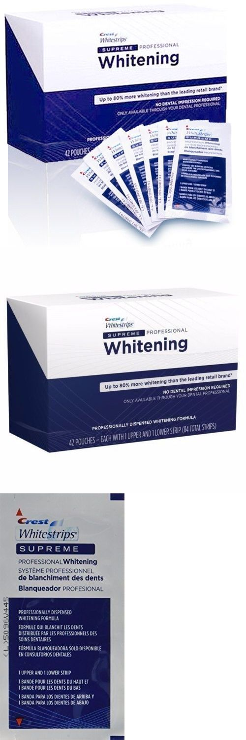 Whitening: Crest Whitestrips Supreme Professional Whitening 84 Strips Kit- 80% Stronger -> BUY IT NOW ONLY: $69.95 on eBay! http://reviewscircle.com/Teeth-Whitening-4-You