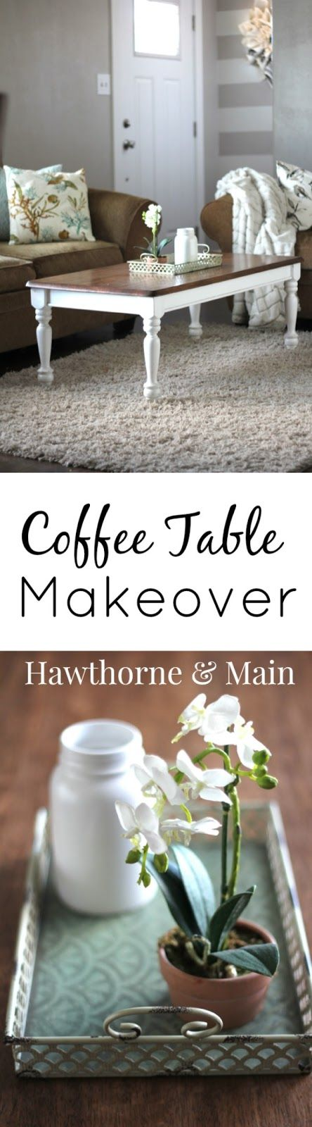 Do you have an older outdated coffee table that you just wish you could change the look of? This tutorial will walk you through the process of updating your old outdated coffee table.  I love how a little furniture makeover can really change the look and feel of a room.