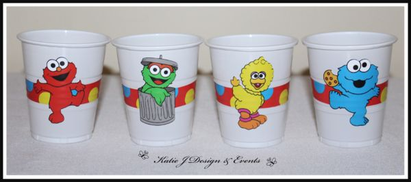 Sesame Street Party Cup Stickers #Sesame #Street #Personalised #Party #Decorations #Baby #Cute #Shower #Elmo #Oscar #TheGrouch #Cookie #Monster #Unisex #Shower #Birthday #Bunting #Party #Ideas #Banners #Cupcakes #WallDisplay #PopTop #JuiceLabels #PartyBags #Invites #KatieJDesignAndEvents #Creative