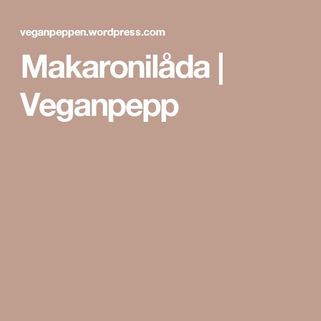 Makaronilåda | Veganpepp