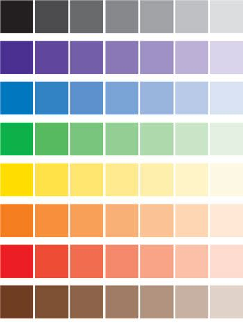 Монтессори. Цветовые карточки, оттенки цвета free printable, color cards, montessori