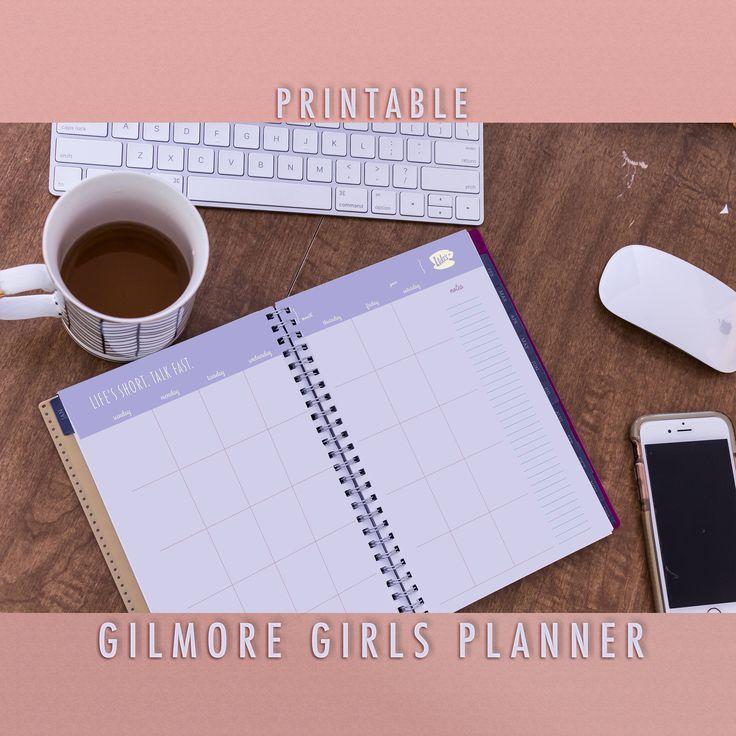 Gilmore Girls Planner, Printable Gilmore Girls Yearly Planner, Luke's Diner Mug, Planner, Printable Gilmore Girls Calendar, August Planner by jlschulmanArt on Etsy