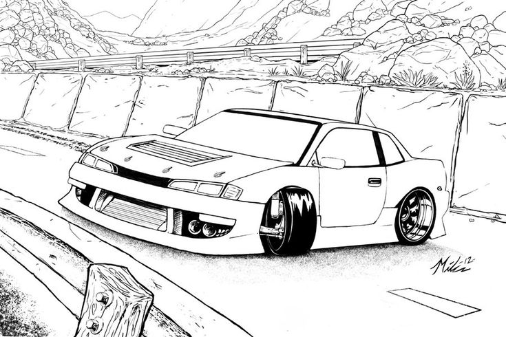 drifting down hill lineart by splicer cars to. Black Bedroom Furniture Sets. Home Design Ideas