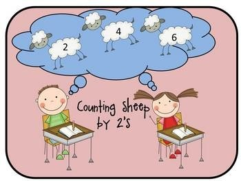 This is a great motivating game for your primary students who are learning to skip count by 2's.  Have your students visit your math center put the...