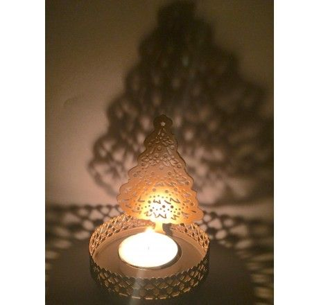 Christmas Decorations - christmas Tree shaped candle / T Light Holder
