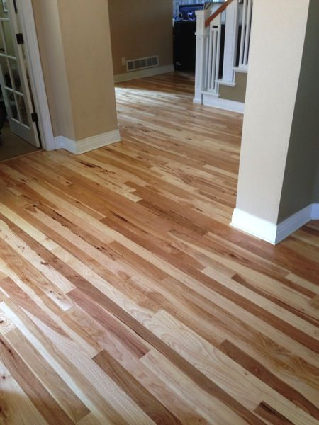 Love this hickory hardwood flooring! -- Click through for pics of more flooring types.