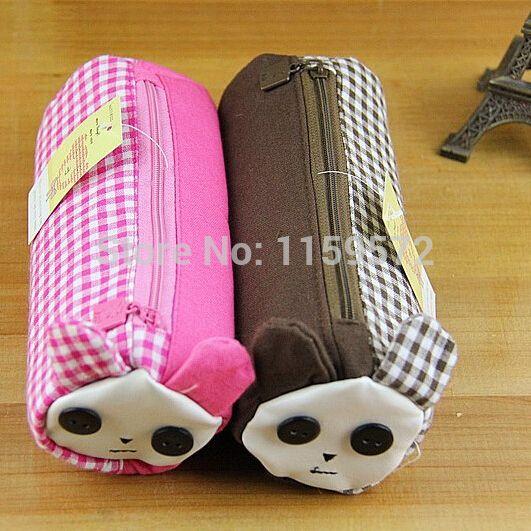 Korea style creative cartoon school pencil case for girls, rabbit design personal pen bag, free shipping, drop shipping