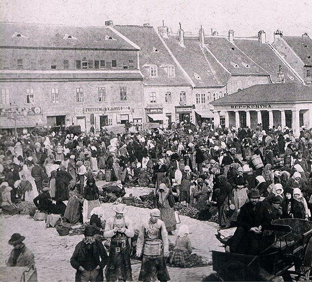 Bomba tér, a mai Batthyány tér, 1874.