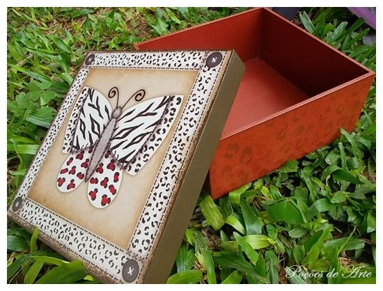 Lojinha Poções de Arte: Caixa - Borboleta.
