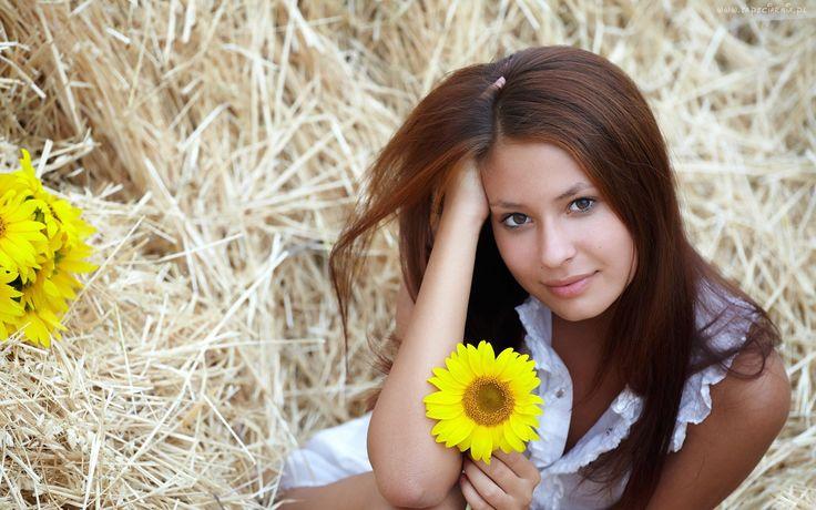 Kobieta, Słonecznik