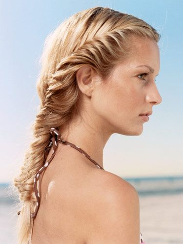 Want beachy waves? Try fishtail braids! Seventeen shares seven easy steps to the perfect summer style. And don't forget to tie your braid with a ‪#‎SugarTwist‬!