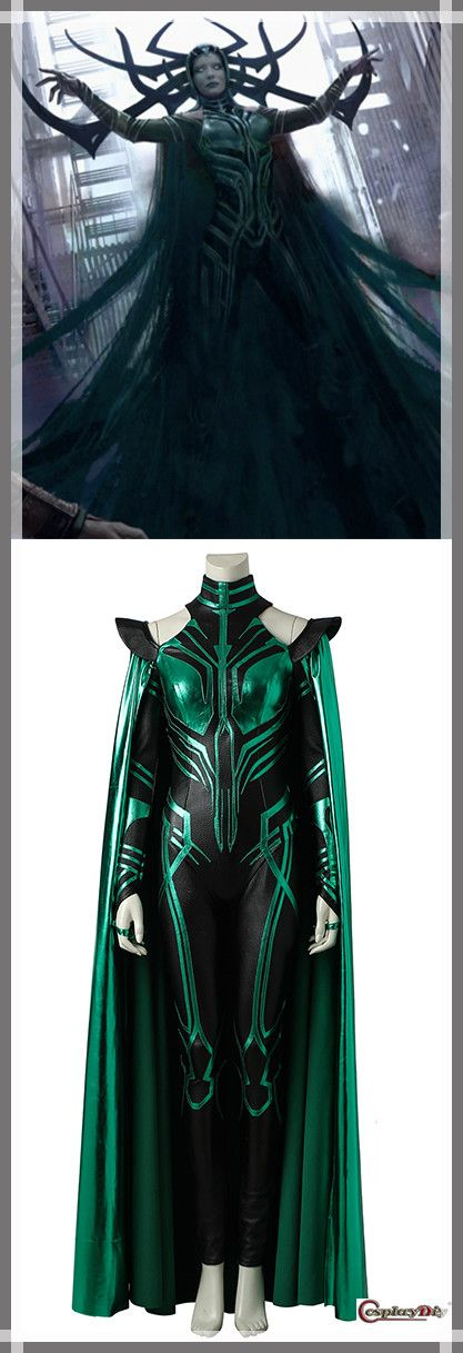 Cosplaydiy THOR 3 Ragnarok Trailer Hela Cosplay Costume Women's Cosplay Costume For Party/Halloween