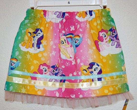 My Little Pony Ombre print girl's skirt by DaleRaeDesigns on Etsy