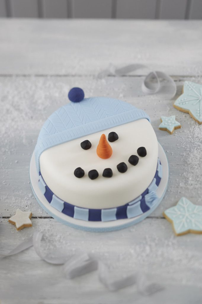 How to Make a Snowman Christmas Cake #baking #christmas