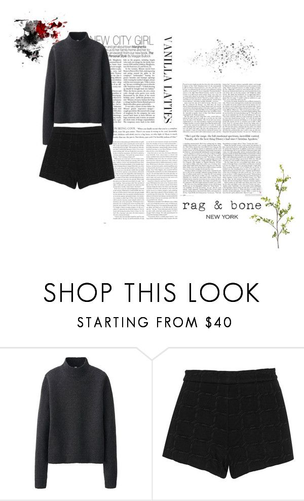 """Vanilla Lattes"" by charlotte-sophie-lensen on Polyvore featuring Uniqlo, T By Alexander Wang and Pier 1 Imports"