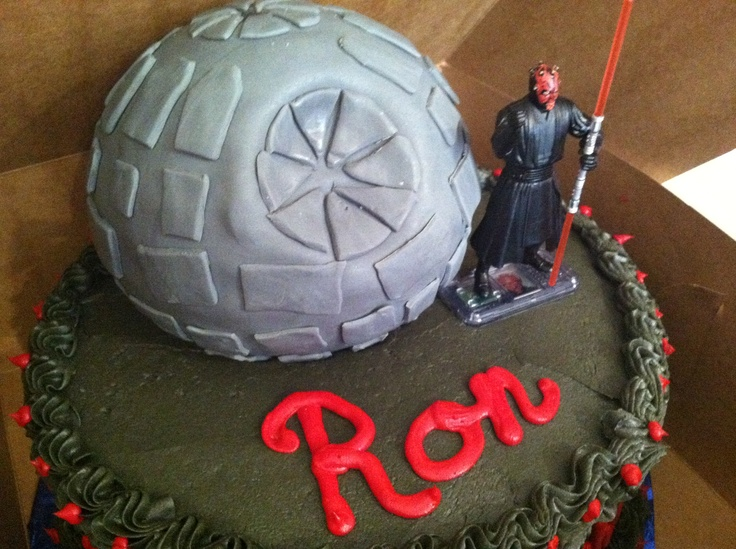 Birthday Cake For Ronald : Star Wars custom birthday cake - happy day Ron! #jedi # ...