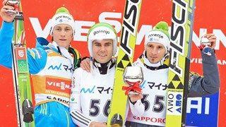 Triple victory for Slovenia in Sapporo #ski #SloveniaMojDoma