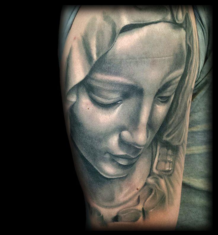 #tattoo #tatuaje #real #realismo #realistic #realista #retrato #portrait #virgin #virgen #maria #mery #black #white #blanco #negro
