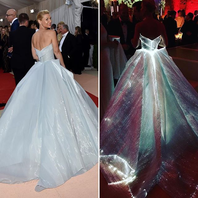 @zacposen designed Claire Danes' #metgala Cinderella-like ...