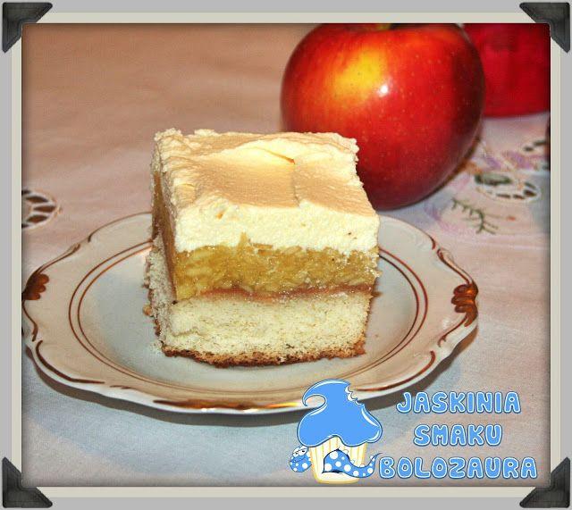Jaskinia Smaku Bolozaura Biszkoptowa Szarlotka Z Kremem Duza Blacha Desserts Vanilla Cake Cheesecake