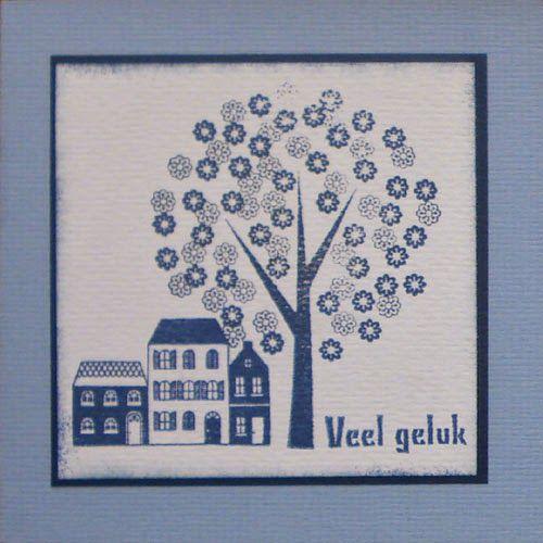 Marjoleine's blog: Gestempelde kaarten met huisjes