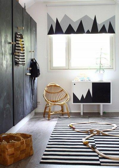 Deco Chambre Vinyl Blanc Geometrique : Formes géométriques en noir et blanc envie deco