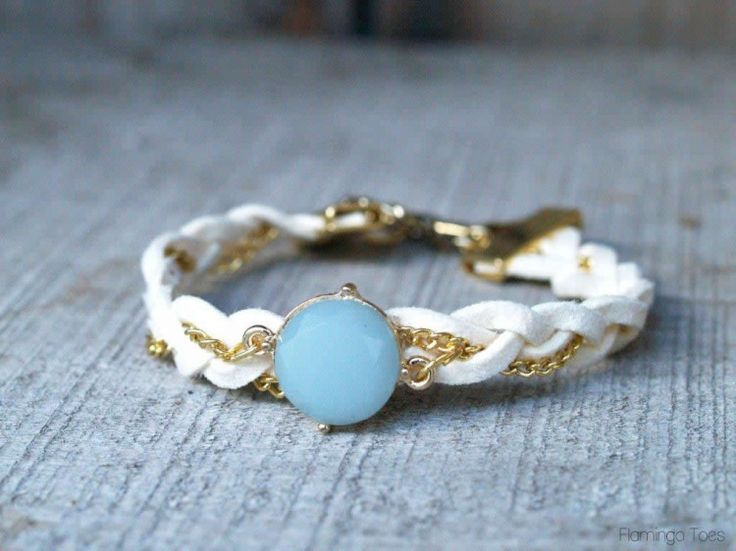 Chain and Leather Bracelet (2)