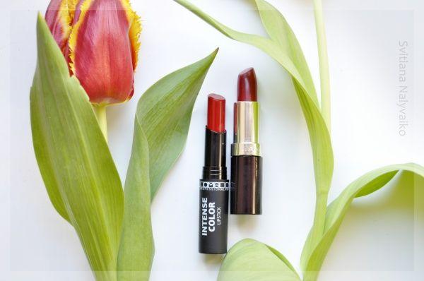 Две красные помады. Rimmel Lasting Finish Lipstick в оттенке 164 Tantrum и Lamel Professional Intense Color Lipstick в оттенке 06 отзывы — Отзывы о косметике — Косметиста