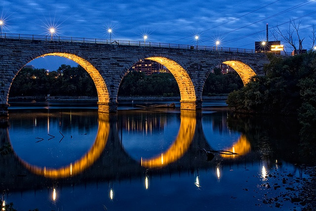 Stone Arch Bridge across the Mississippi