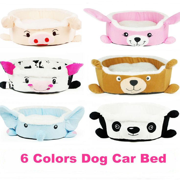 6 Colors Wholesale Princess Cute Animal cartoon Style Pet Bed Dog Cat Bed Pet Bow Bed High Quality  GW0015