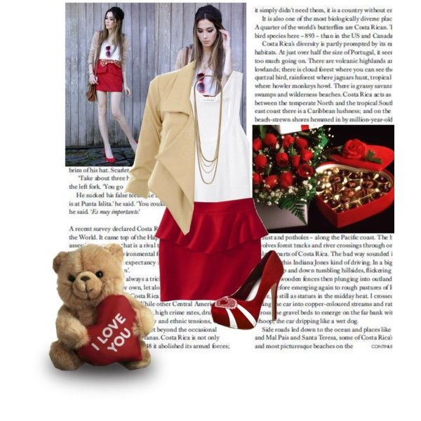 """HERSTAR Valentine's Day Date Outfit!"" by missmelika on Polyvore"