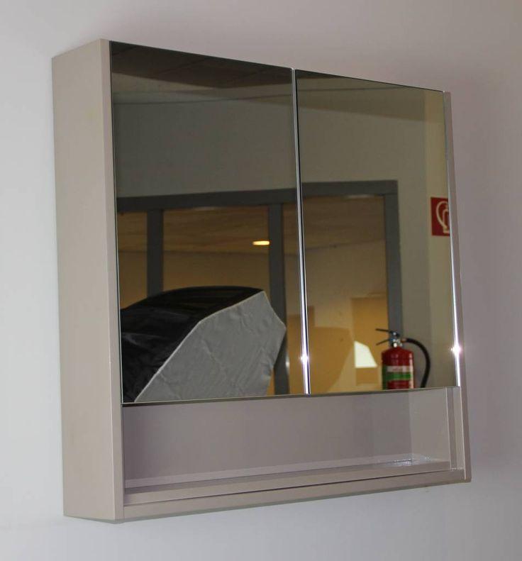 Sem Celes spiegelkast 80x75x15cm grijs hoogglans