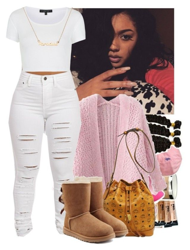 """1.18.16"" by heavensincere ❤ liked on Polyvore featuring Chicnova Fashion, MCM, Topshop and UGG Australia"