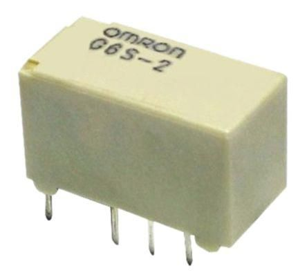 G6S-2Y Series Ultra-miniature PCB relay - H9.2xW7.3xD14.8 mm EN60950/EN41003 supplementary insulation certified Fully sealed Low power consumption High dielectric strength High impulse withstand voltage between coil and contacts