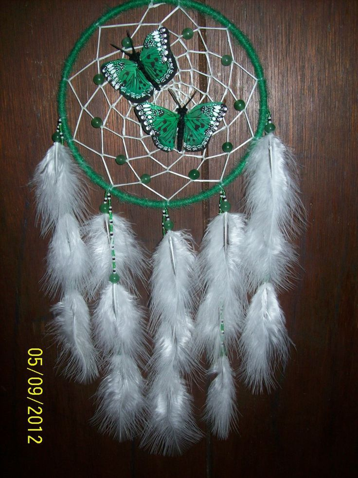 Native American Butterfly Dream Catcher | AUTHENTIC NATIVE AMERICAN Made 6 Inch Woodland Dream Catcher with ...