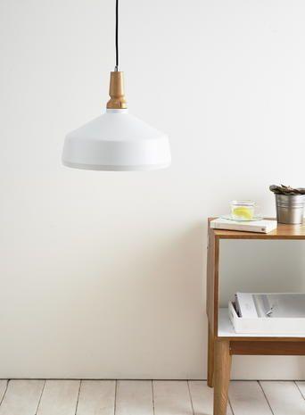 White Kendra Pendant Light`only 34 diameter so ok