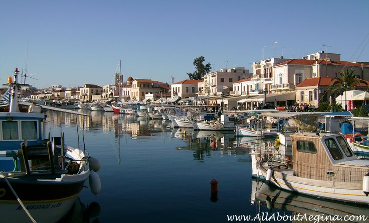 The town of Aegina, a small greek island close to Athens!