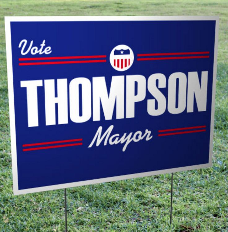 Raise awareness about your candidate through the use of political yard signs!