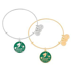 Ariel Bangle by Alex and Ani | Disney Store The Little Mermaid is joined by her fishy friend Flounder on this Ariel Bangle by Alex and Ani. Available in gold and silver finishes, this fully adjustable metal bracelet inspires you to ''Follow your dreams wherever they lead.''
