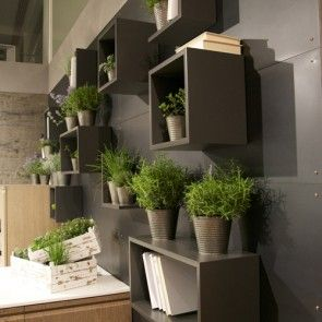 Interni Milano - #green #wall with #magnetic #shelves by #rondadesign
